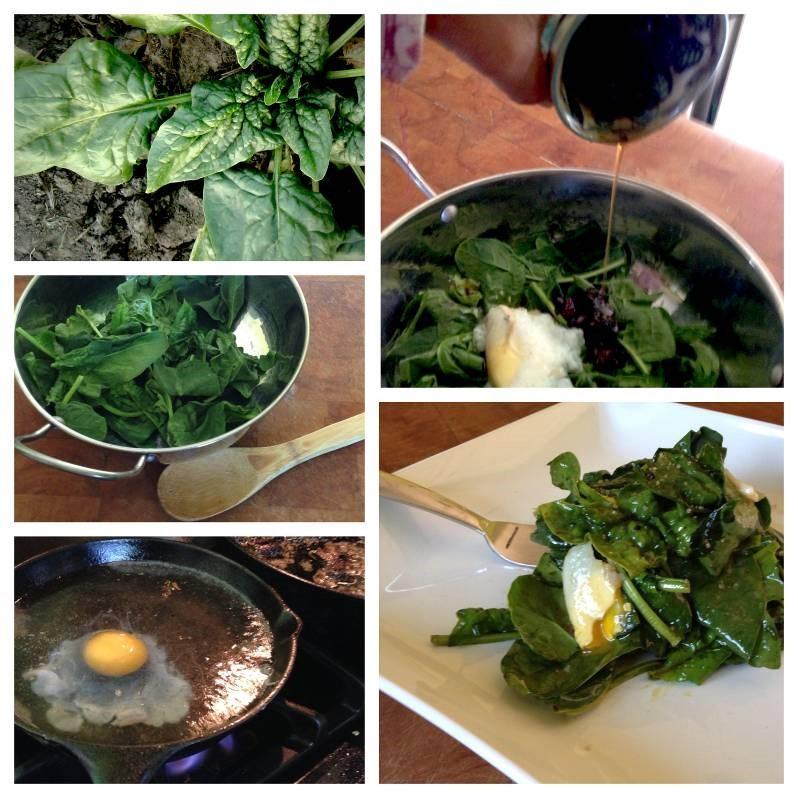 Spinach Salad Lyonnaise